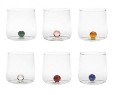 Zafferano – n°6 bicchieri colorati bilia
